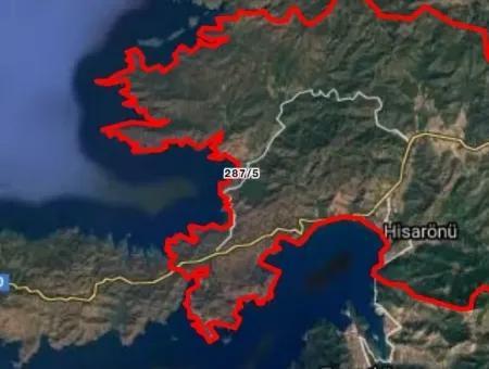 Marmaris Bördübet Koyunda Denize Sıfır Kitesurf Alanı 13000M2 Arsamız Satılıktır.